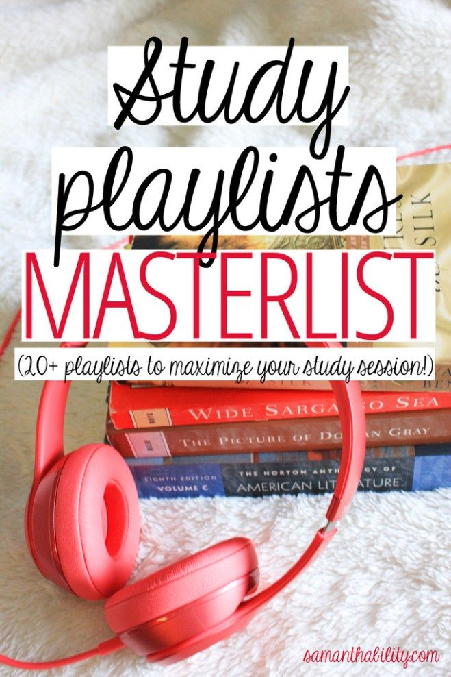 Study playlist master list! These study playlists are perfect for college exams and midterms! Get good grades listening to these playlists which will inspire and motive you to school success.