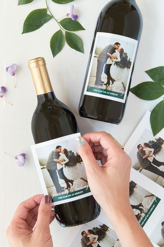 Punny Reception Wine Labels Weddings Pinterest Wedding Favors