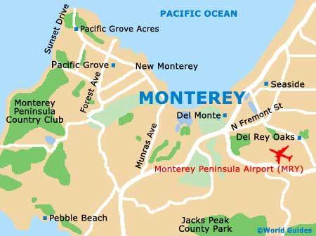 Monterey California Map #HyattRegencyMakesMeSmile