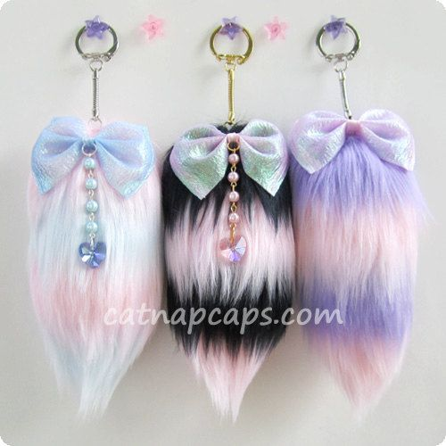 Customize your own fairy kei lolita striped tail any by CuteParade, $17.00