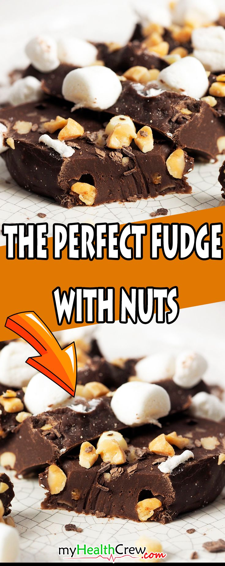 The perfect chocolate fudge with nuts