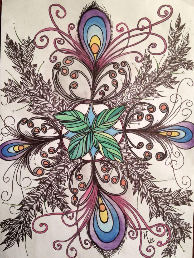 Using a bit of watercolour.