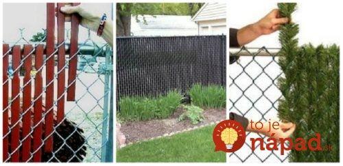 Škaredý plot z drôteného pletiva nemusíte meniť: 11 fantastických nápadov, ako ho šikovne zakryť a skrášliť vašu záhradu!