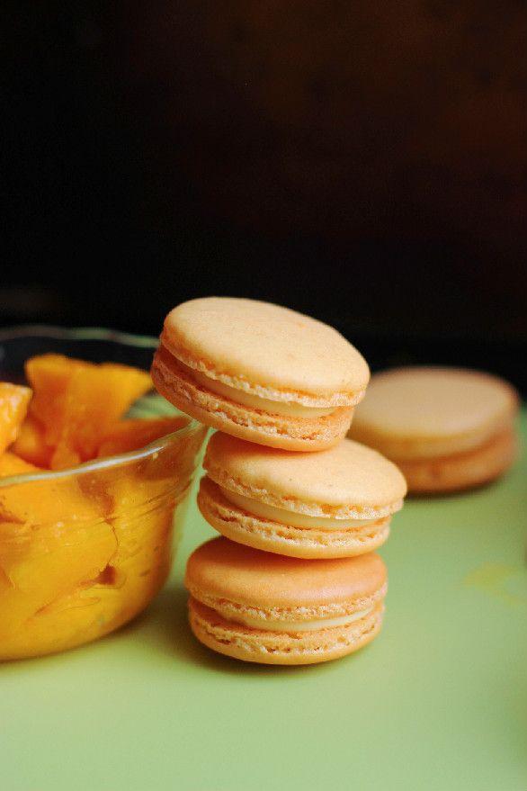 Mango White Chocolate Macarons