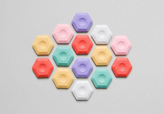 Hexagonal Eraser Koh-i-noor thermoplastic candy colors pastel colors, honeycomb eraser