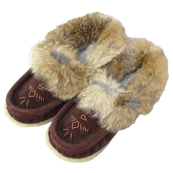 - Description - Details - Sizing - These ladies moccasin slippers are lined with cozy fleece perfect for keeping your feet warm and comfortable in the winter time. They are handmade out of genuine cow