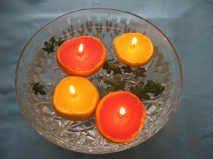 Orangenschalen Kerzen