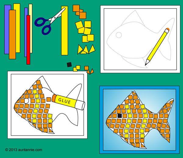 Precioso mosaico de papel | Mosaico de papel, Mosaico para niños y ...