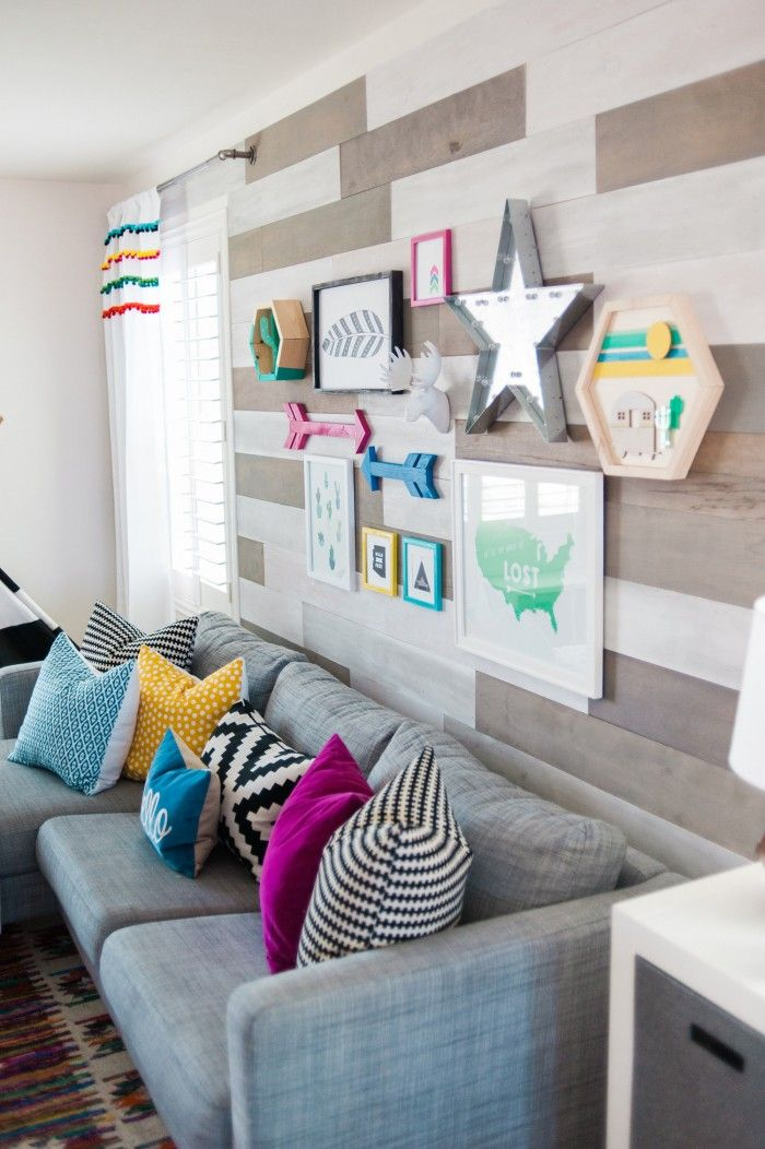 Colorful Playroom with Gallery Wall