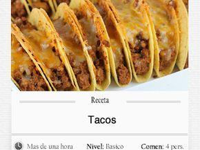 Tacos. INGREDIENTES: (tortillas). 3 tazas de harina blanca de trigo. 2/3 de taza de harina de maíz. 1 cucharadita de polvo de hornear. 1 cucharadita de sal. ¼ taza de aceite. Agua tibia para tomar la masa. INGREDIENTES: (relleno). 1/2kg de carne de...