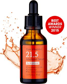 Pure Vitamin C21.5 Advanced Serum, works best with ph lower than 3.5 and must wear sunscreen during day time