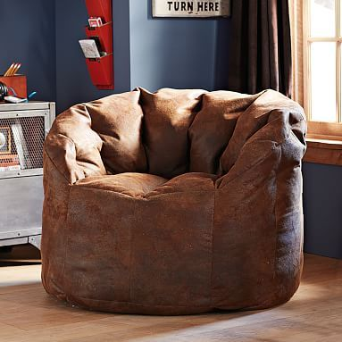 """Trailblazer Cushy Club Chair"" I think this is the most sophisticated bean bag chair I've ever seen!"