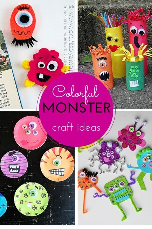 halloween party craft ideas colorful craft ideas crafts monsters 4619
