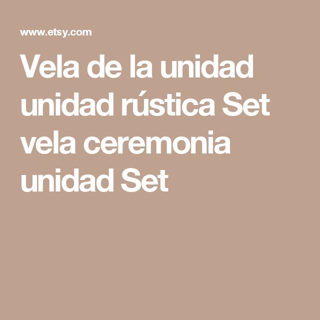 Vela de la unidad unidad rústica Set vela ceremonia unidad Set