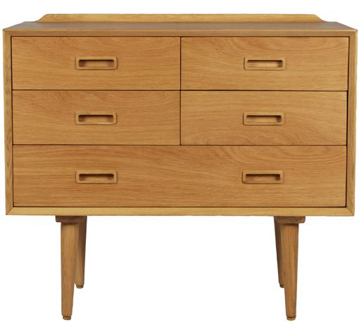 classic 50's timber chest of drawers