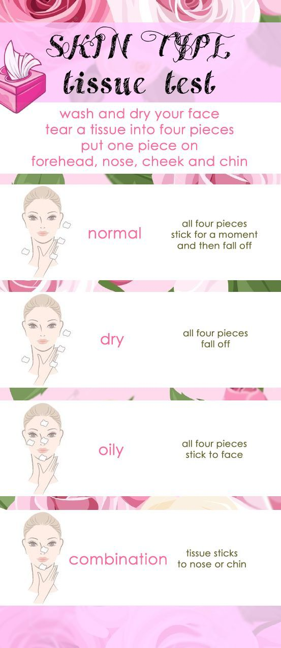 Skin Type Tissue Test. Is your skin normal, oily, dry or a combination?