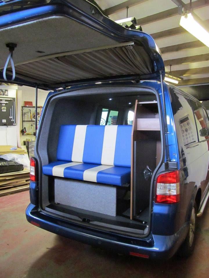 VW T5 Custom Curtains all round the van.