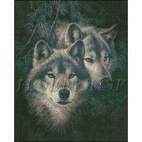 """Схема вышивки  """"Пара волков"""""""