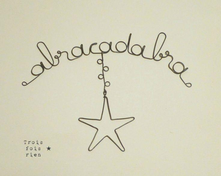 Guirlande fil de fer Abracadabra (2)
