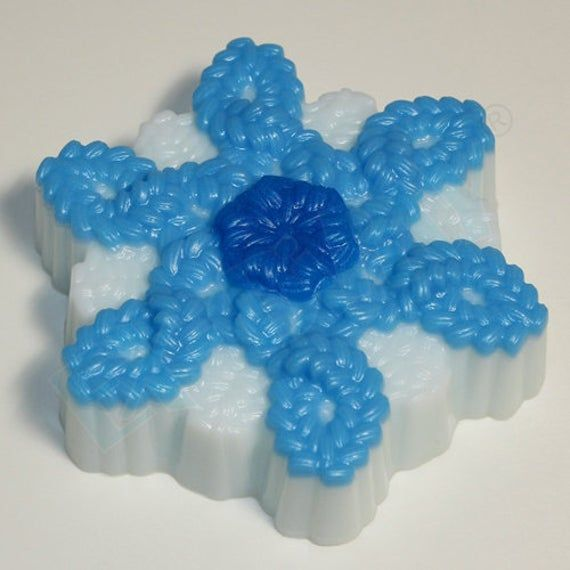 """/""""Knitted snowflake/"""" plastic soap mold soap making mold mould"""