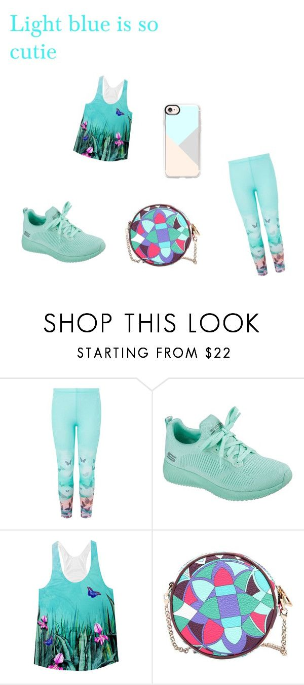 """""""blue"""" by kiamullins-1 ❤ liked on Polyvore featuring Monsoon, Skechers, Emilio Pucci and Casetify"""