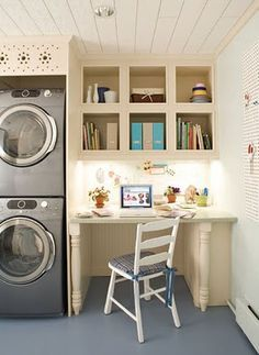 it would be lovely:  sewing room with laundry and a desk.  I'd spend all day in there!