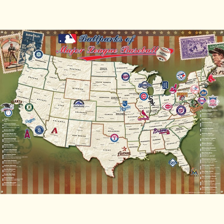 Major League Baseball Poster - Track Your Stadium Quest!....we will need this