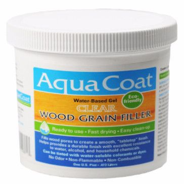 Easy-to-sand clear gel wood grain filler for filling the pores in woods (such as…