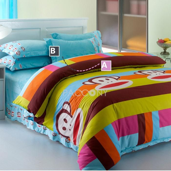 Classic Paul Frank Velvet And Cotton 4 Piece Queen/King Size Duvet Covers  On · Bedding Sets OnlineCheap ...