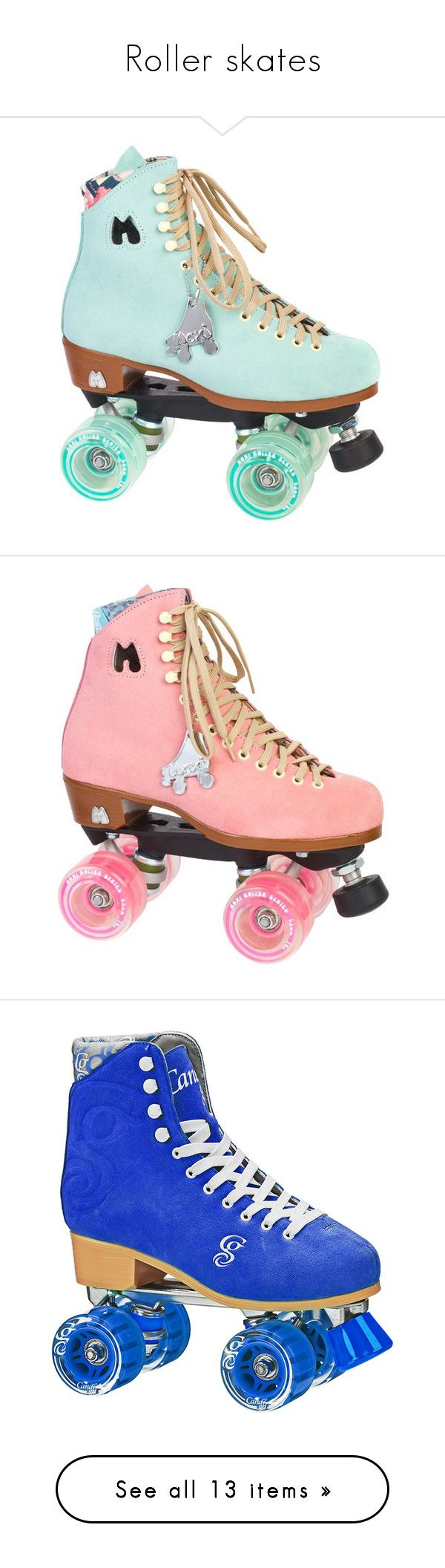 """Roller skates"" by new-zealander-alice ❤ liked on Polyvore featuring skates, shoes, roller skates, toys, lullabies, white and filler"