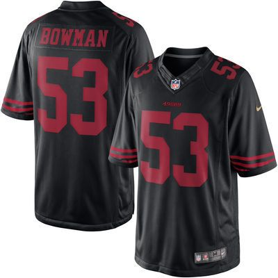 Men's San Francisco 49ers #53 NaVorro Bowman Nike Black Color Rush Limited Jersey