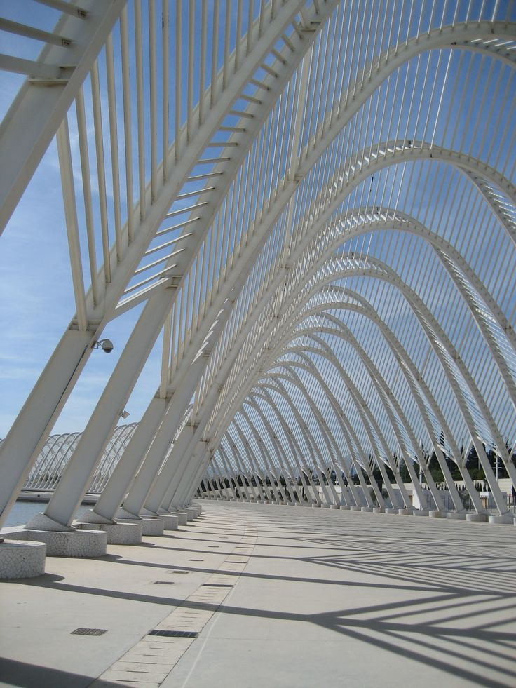 The Olympic Stadium in Maroussi, North Athens, with the  Calatrava architecture