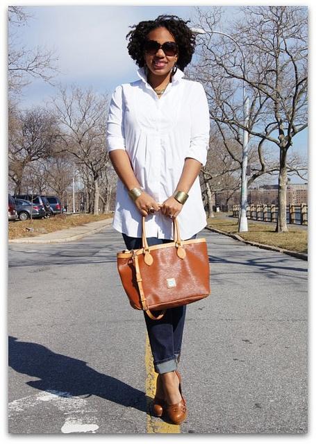 Uniqlo Shirt  J Brand Jeans  Forever 21 Cuffs & Sunglasses  Dooney & Bourke Handbag  Christian Louboutin Shoes