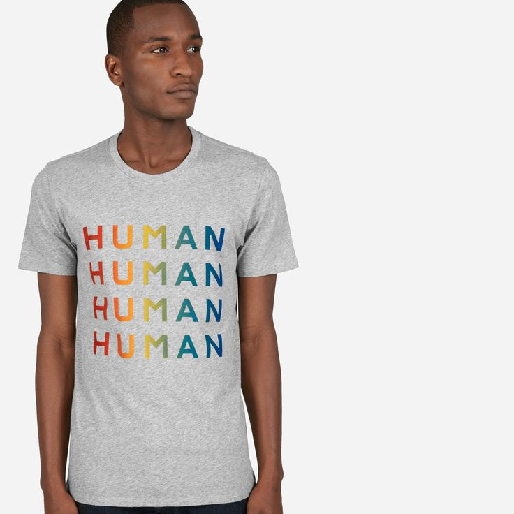 We launched the 100% Human Collection to support two things that matter to us—protecting human rights and remembering that we are more the same than we are different. For every 100% Human Pride product sold, we're proud to donate to the HRC. #HumanTogether
