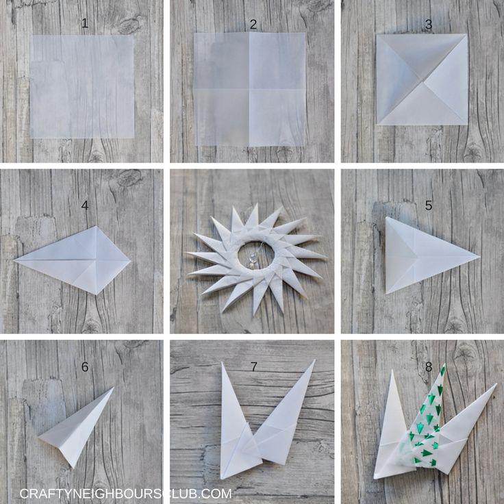 Schritt für Schritt Anleitung für Origamisterne