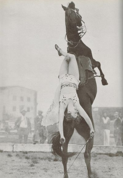 Dorothy Herbert Photo from The Pictorial History of the American Circus by John and Alice Durant (fifth printing 1967)