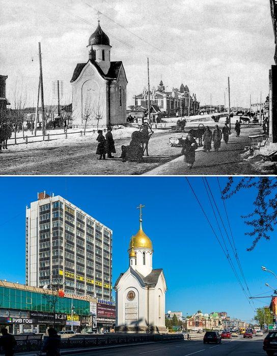 Часовня была построена в 1915 году в честь 300-летия дома Романовых на Николаевском.