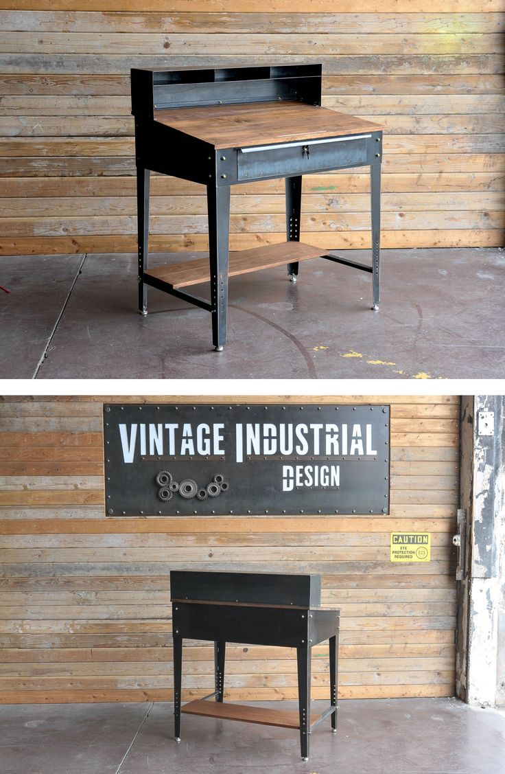 best 25 vintage industrial furniture ideas that you will like on pinterest industrial bench. Black Bedroom Furniture Sets. Home Design Ideas