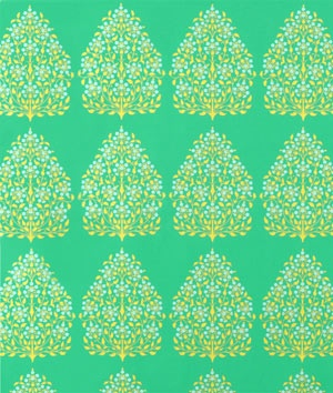 Amy Butler Henna Trees Grass Laminated Cotton