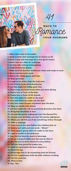 41 Ways to Romance Your Husband | Husband Love