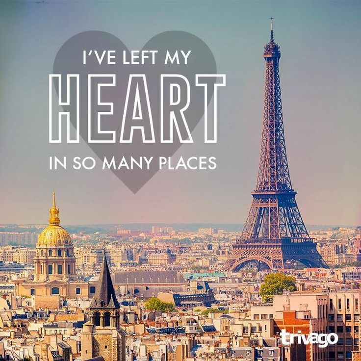 I've left my heart in do many places
