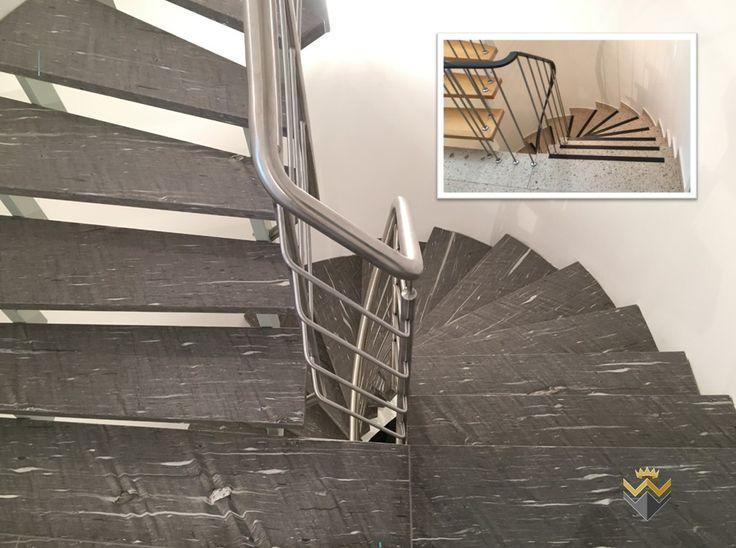 8 besten leichtbaustufen aus naturstein f r offene treppen bilder auf pinterest. Black Bedroom Furniture Sets. Home Design Ideas