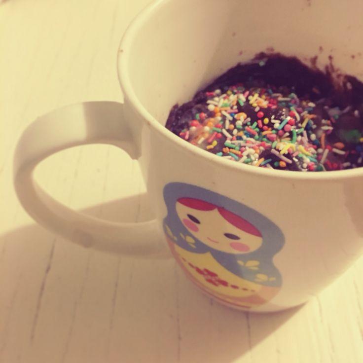 Chocolate mug cake by @stephabubbles