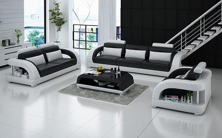 Zerbone Italian Leather Sofa Set