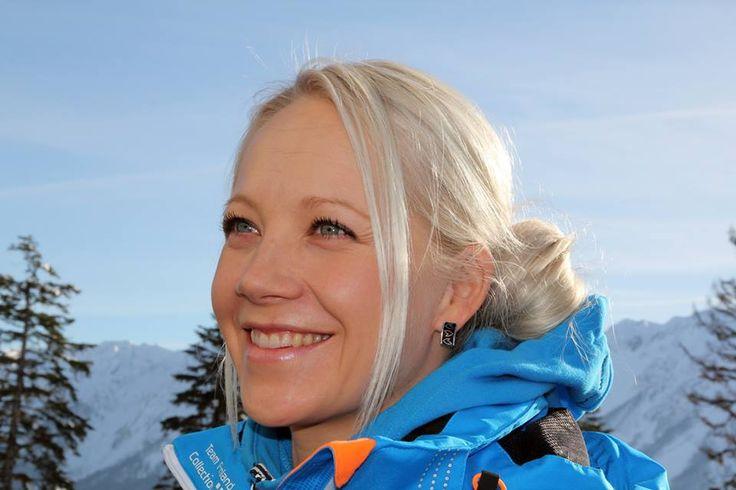 Kaisa Mäkäräinen, a Finnish biathlonist. It's a sport where they ski and shoot - exciting to follow!