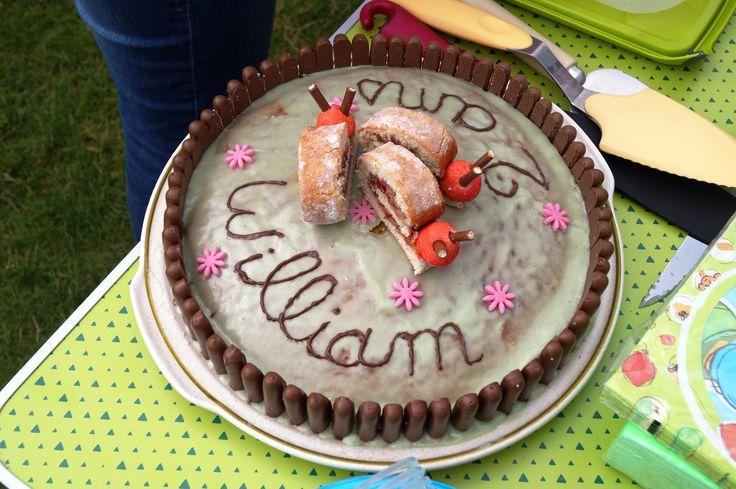 Gâteau yaourt + roulé escargot - anniversaire enfant.