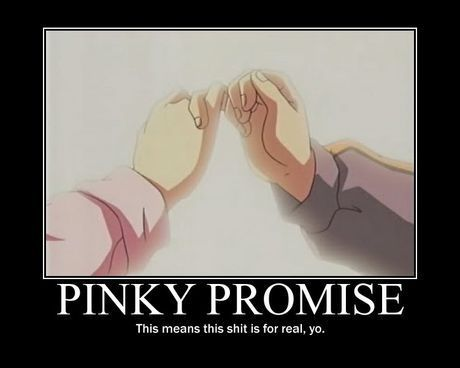 pinky promise quotes | in anime Pinky promise - Good Meme