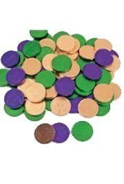 Foil-Wrapped Mardi Gras Chocolate Coins