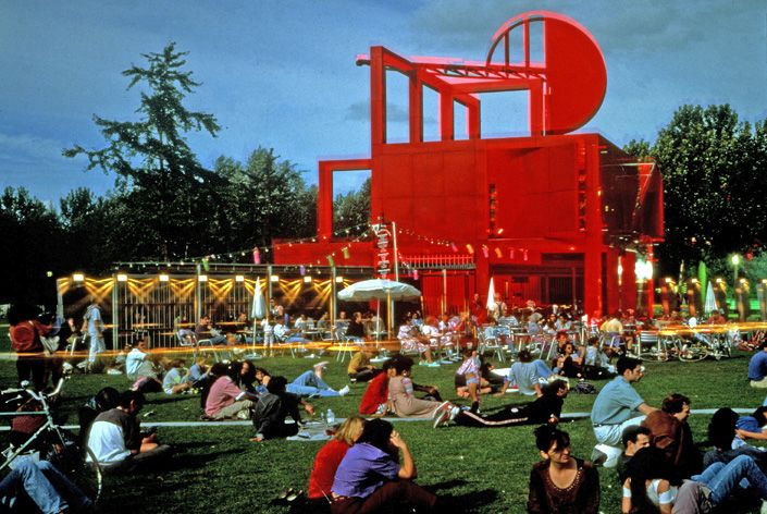 "Parc de la Villette Paris, 1982-1998  ""An award-winning project noted for its architecture and new strategy of urban organization, La Villette has become known as an unprecedented type of park, one based on ""culture"" rather than ""nature."" "" (Inspiration for DS2 Park Museum)"
