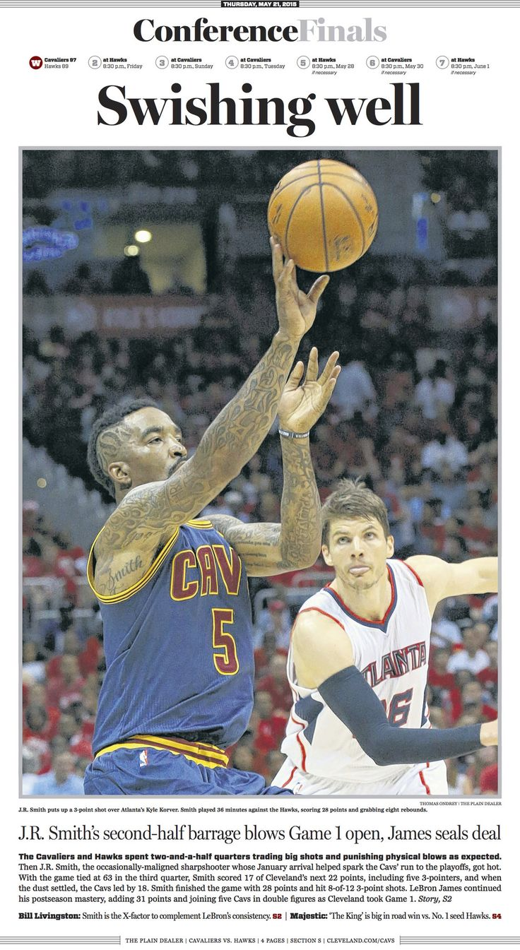 Compare Sports front pages of Plain Dealer, Atlanta Journal-Constitution after ... Cleveland Cavaliers #ClevelandCavaliers
